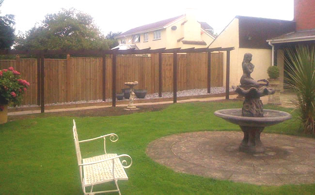 cleared garden after hedge tidy